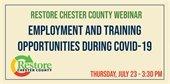 Webinar -- Employment & Training